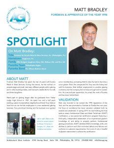 AGI Spotlight 29 - Matt Bradley